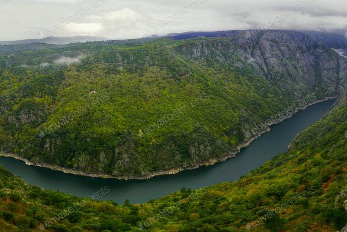 The great canyon formed by the river Sil