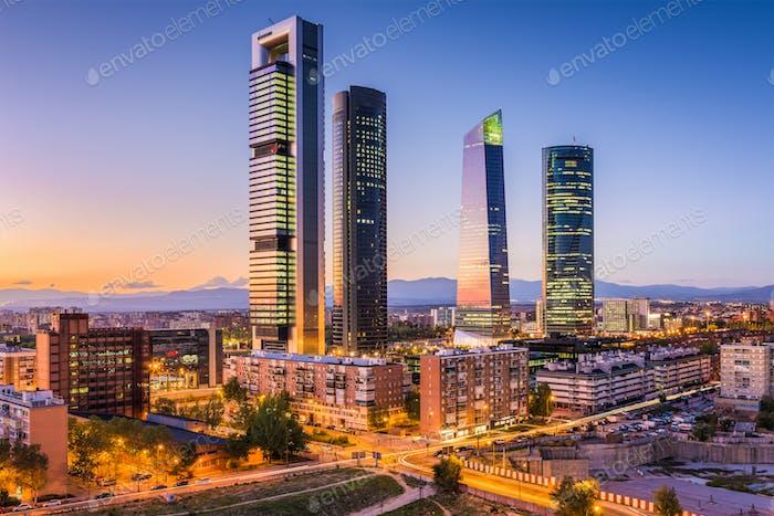 Madrid, Spanien Skyline