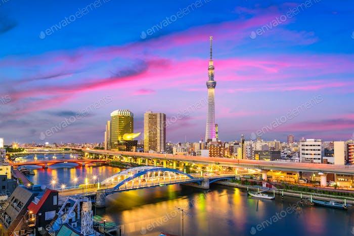 Tokio, Japan Sumida Skyline