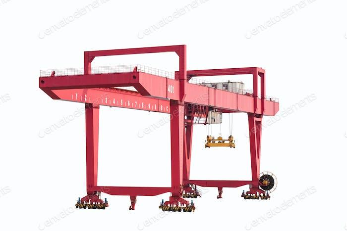 Portalcontainer Kran isoliert