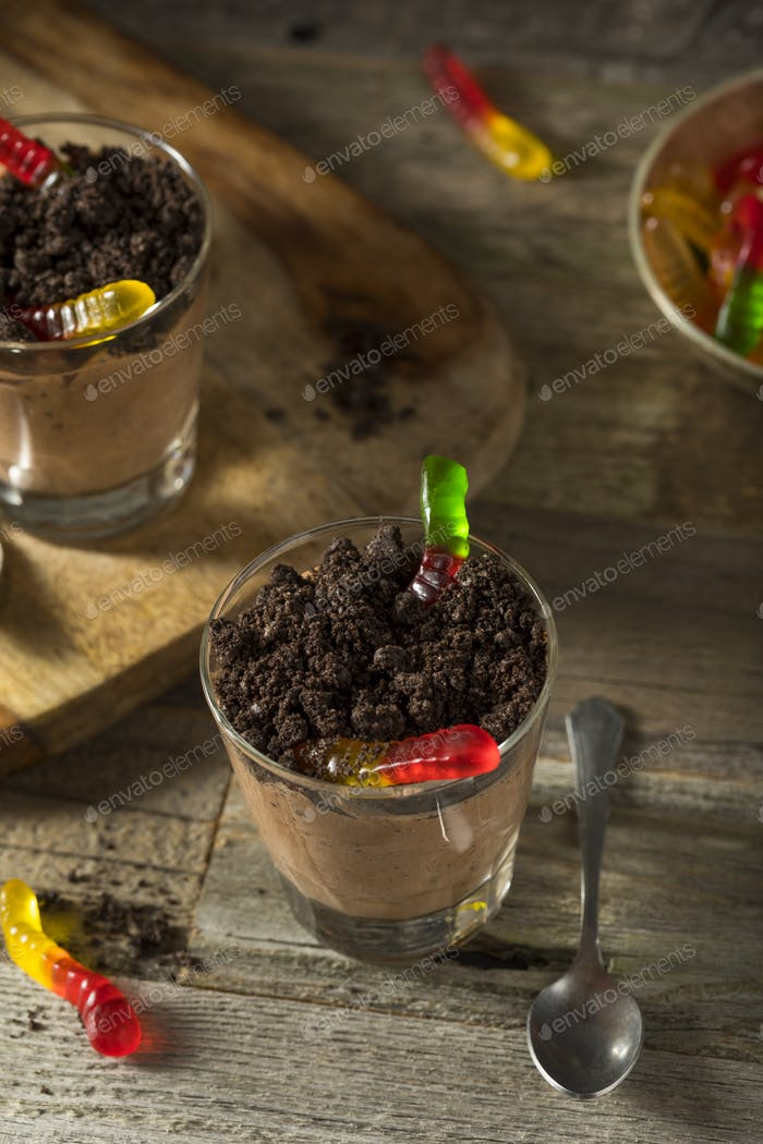 Homemade Chocolate Dirt Pudding