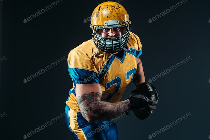 American football player, ball in hands, NFL