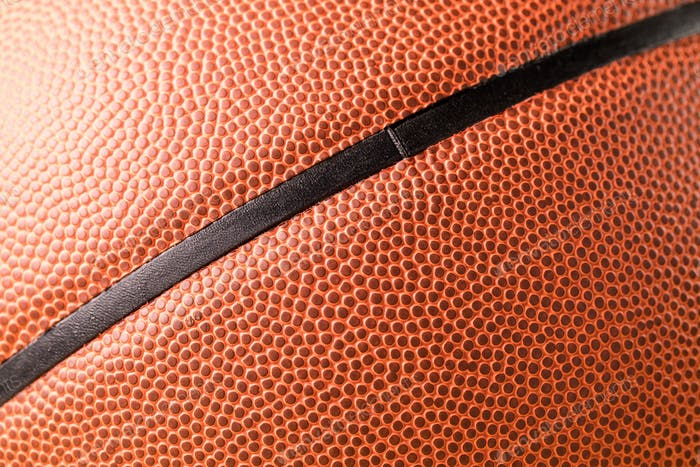 Basketball skin texture close up