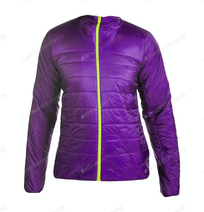 Purple women winter jacket