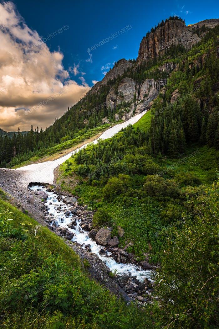Engineer Pass part of Alpine Loop Colorado Uncompahgre River wit