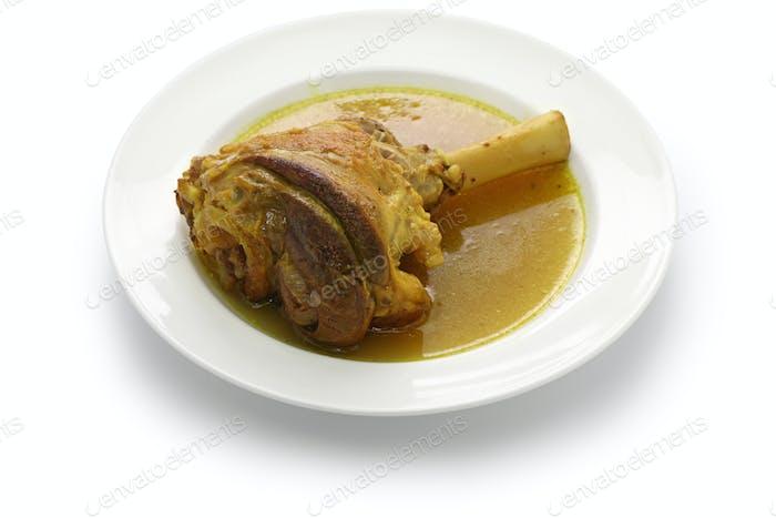 geschmorter Lammschaft, iranische Küche