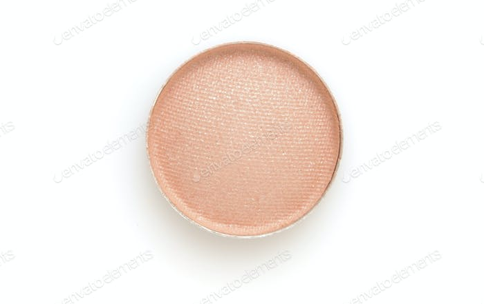 Circle color Eye shadows on white background.