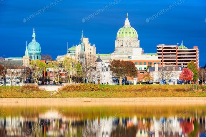 Harrisburg, Pennsylvania Skyline