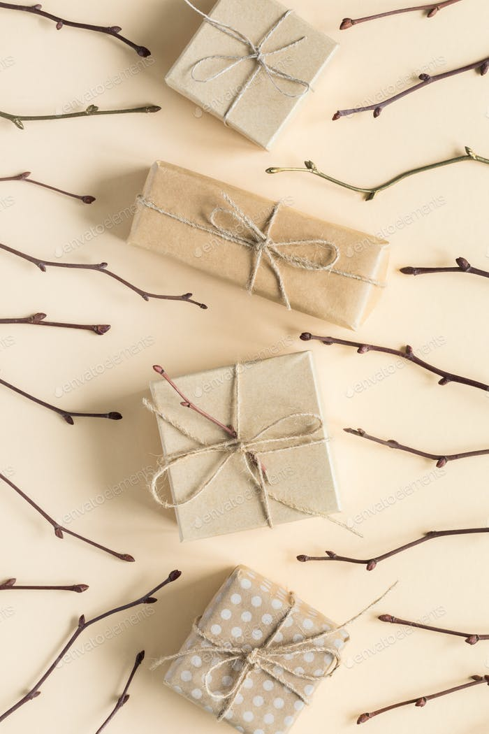 Zero waste gift wrapping on Set Sail Champagne color