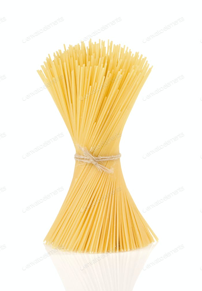 pasta spaghetti isolated on white