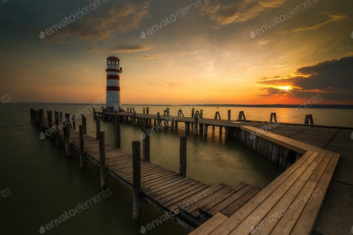 Lighthouse in Podersdorf am see , Burgenland , Austria