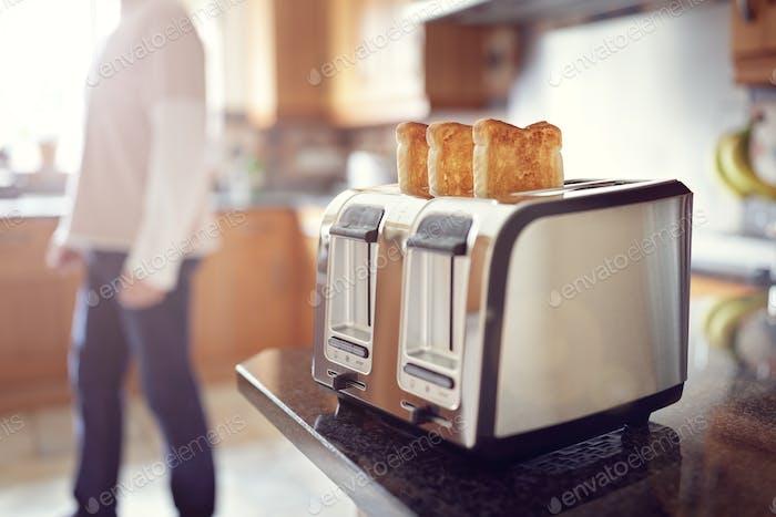 Ранний утренний завтрак тост