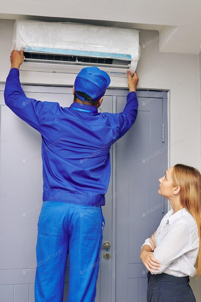 Instalación del acondicionador de aire