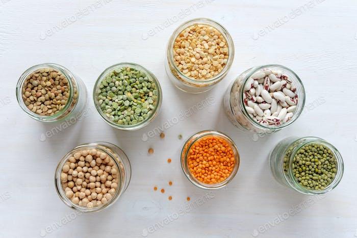 Mung bean, lentil green, lentils, peas, beans