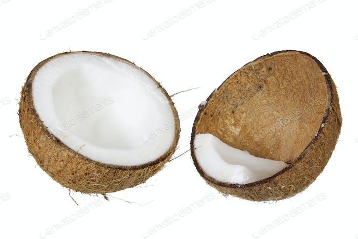 Hälften der Kokosnuss