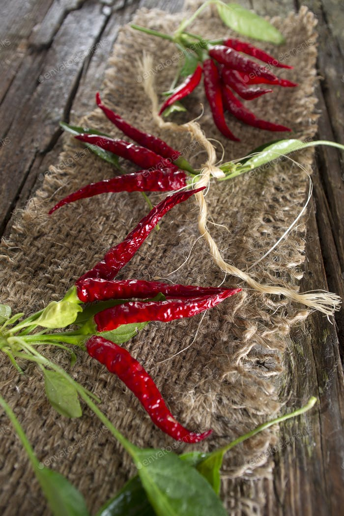 Bunch of hot pepper
