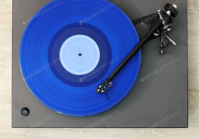 turntable playing record