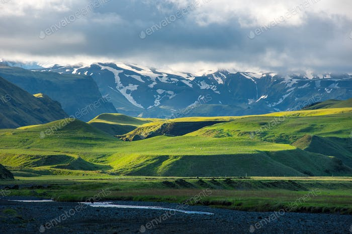 Wonderful Icelandic landscape and nature