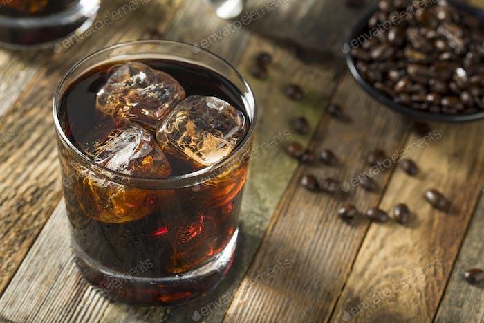Alcohol Boozy Negro Cóctel Ruso