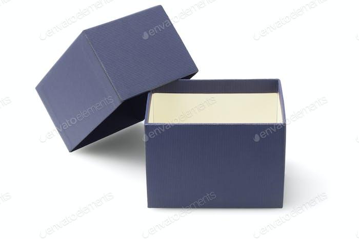Blaue Verpackungsbox