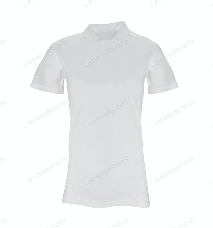 Female's shirt isolated