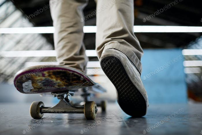 Skateboarder chill