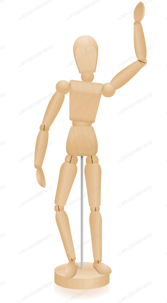 Artist Manikin Waving Lay Figure