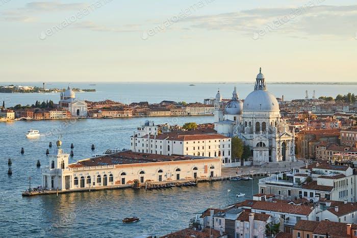 Heilige Maria des Gesundheitswesens Basilika in Venedig und Punta della Dogana