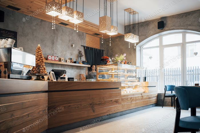 Nourishing tasty pastries in comfortable cafe
