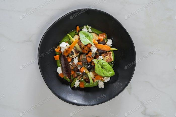 Beautiful and tasty gourmet food