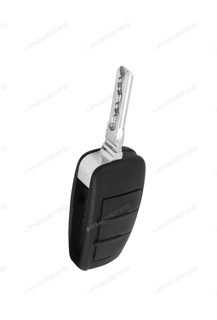 Autoschlüssel isoliert auf weißem Hintergrund