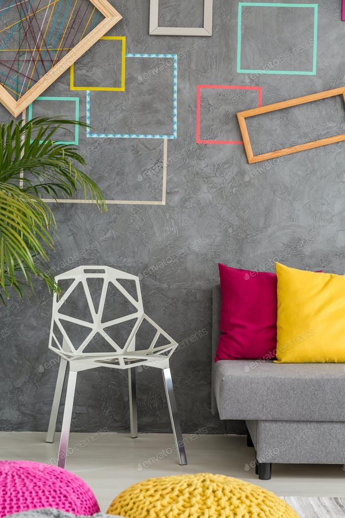 Modern chair and sofa