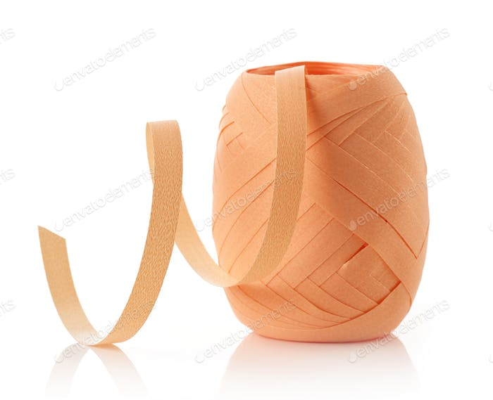 paper ribbon roll isolated