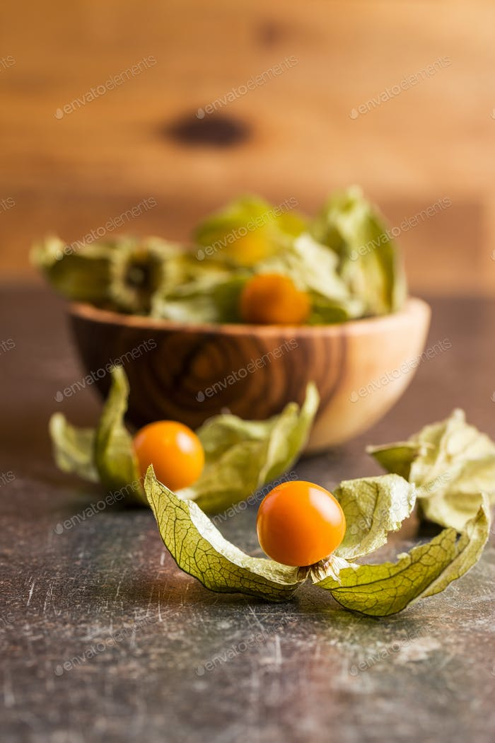 Physalis peruviana fruit.