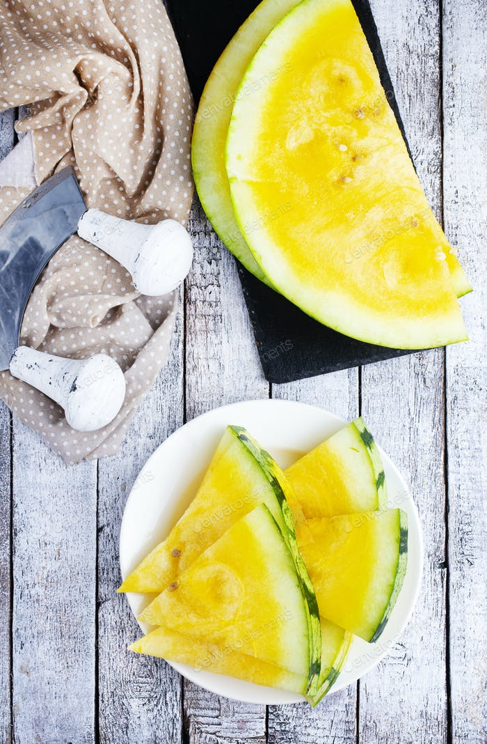 yellow watermelon