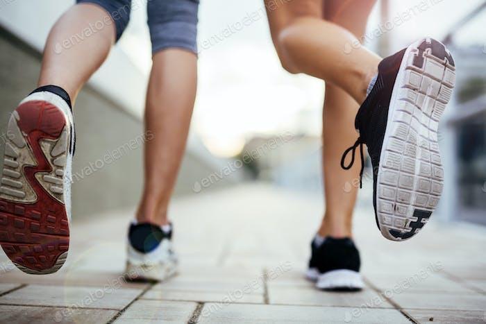 Jogging sportliche Frauen