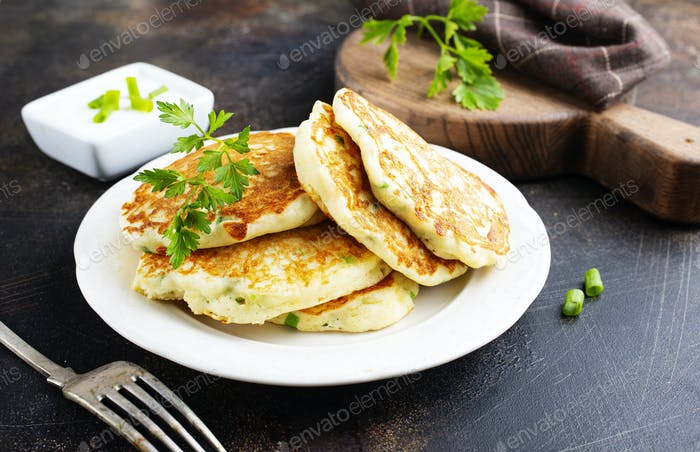 pancakes with onion