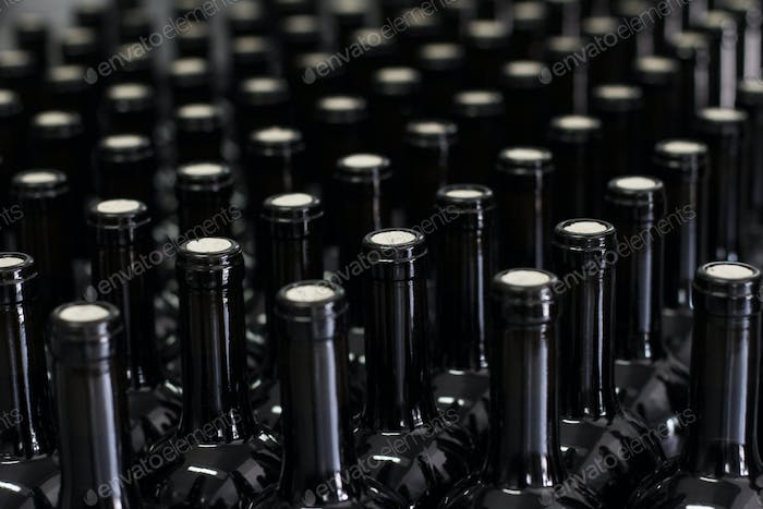 wine being bottled at the winery
