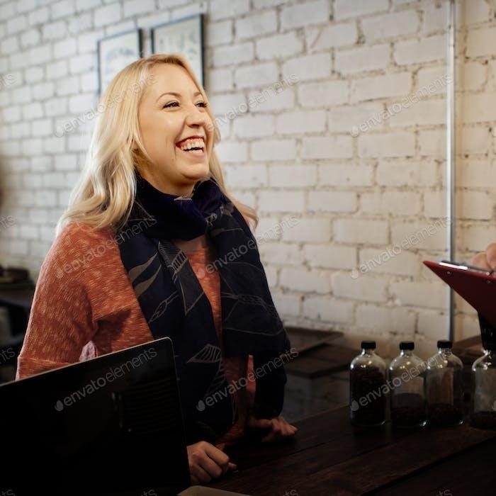 Barista Cafe Restaurant Cafeteria Customer Serve Concept