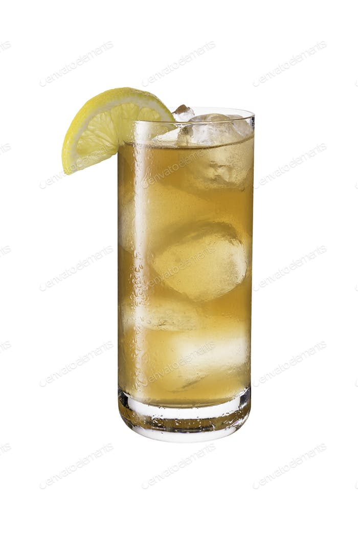 Long Island Iced Tea Cocktail on White
