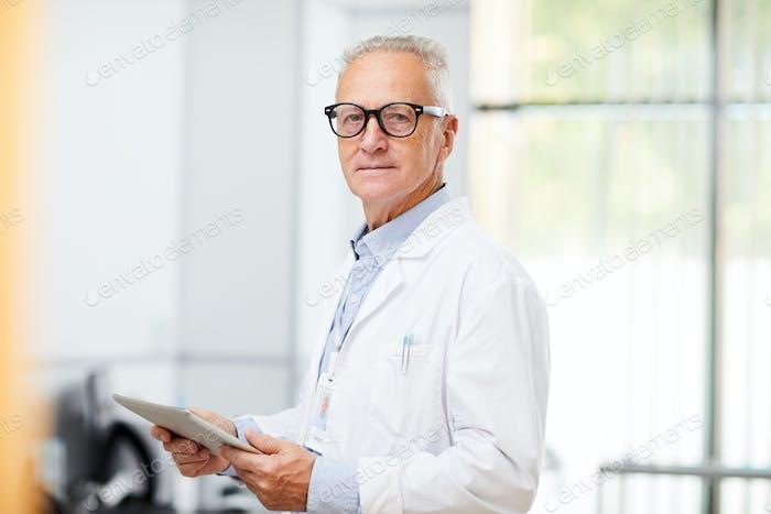 Senior Doctor at Work