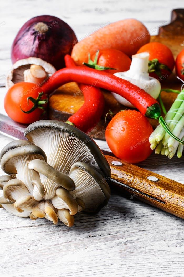 Сезонные летние овощи