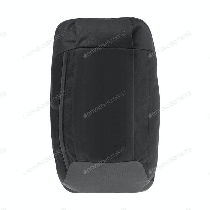 Black backpack isolated on white