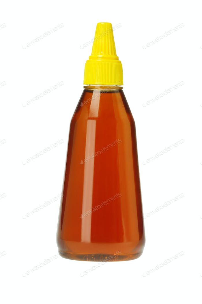 Plastic Bottle of Honey