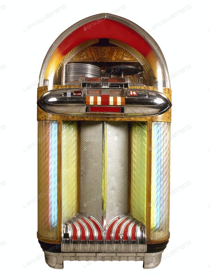 Alte Jukebox Musik-Player isoliert auf weißem Hintergrund