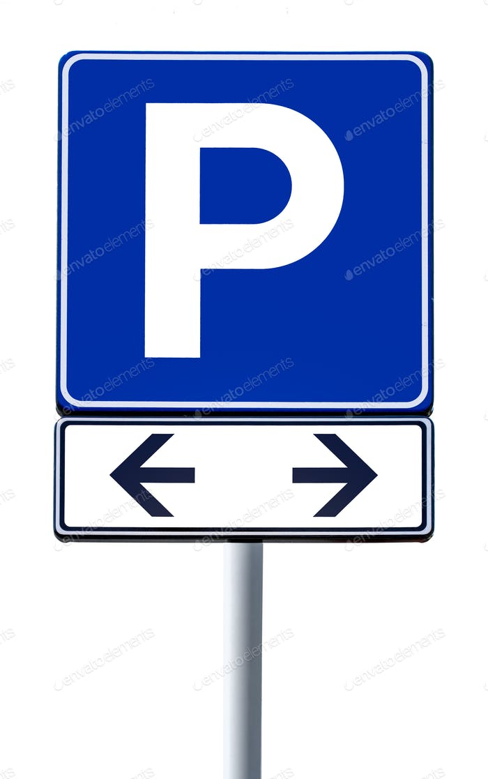Road sign parking