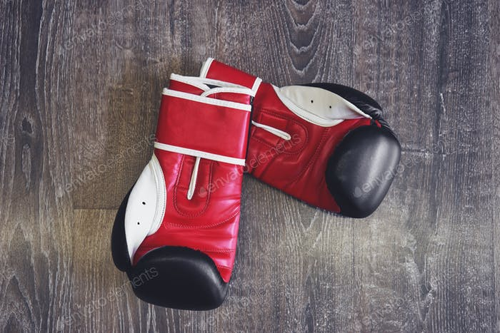 Leder Boxhandschuhe