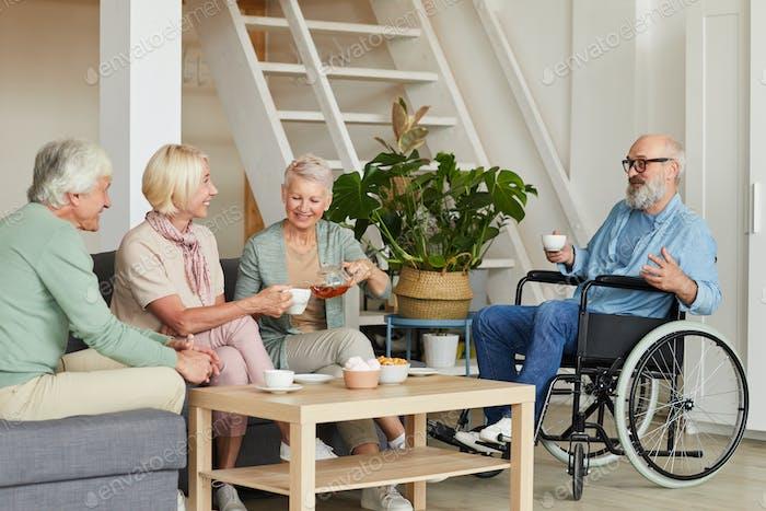 Senior people at nursing home