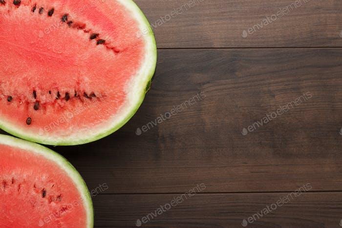Wassermelone Stücke auf dem Tisch