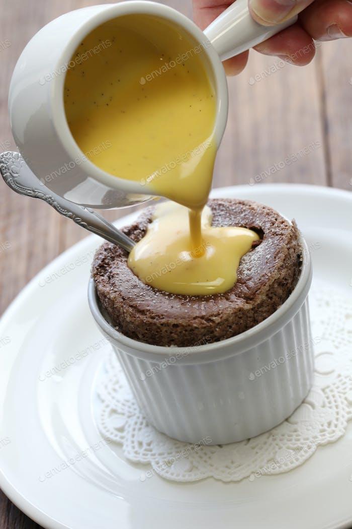 Schokoladen-Souffle